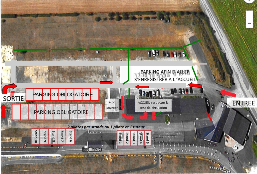Covid-19 : Plan d'accès au Circuit de Vendeuvre